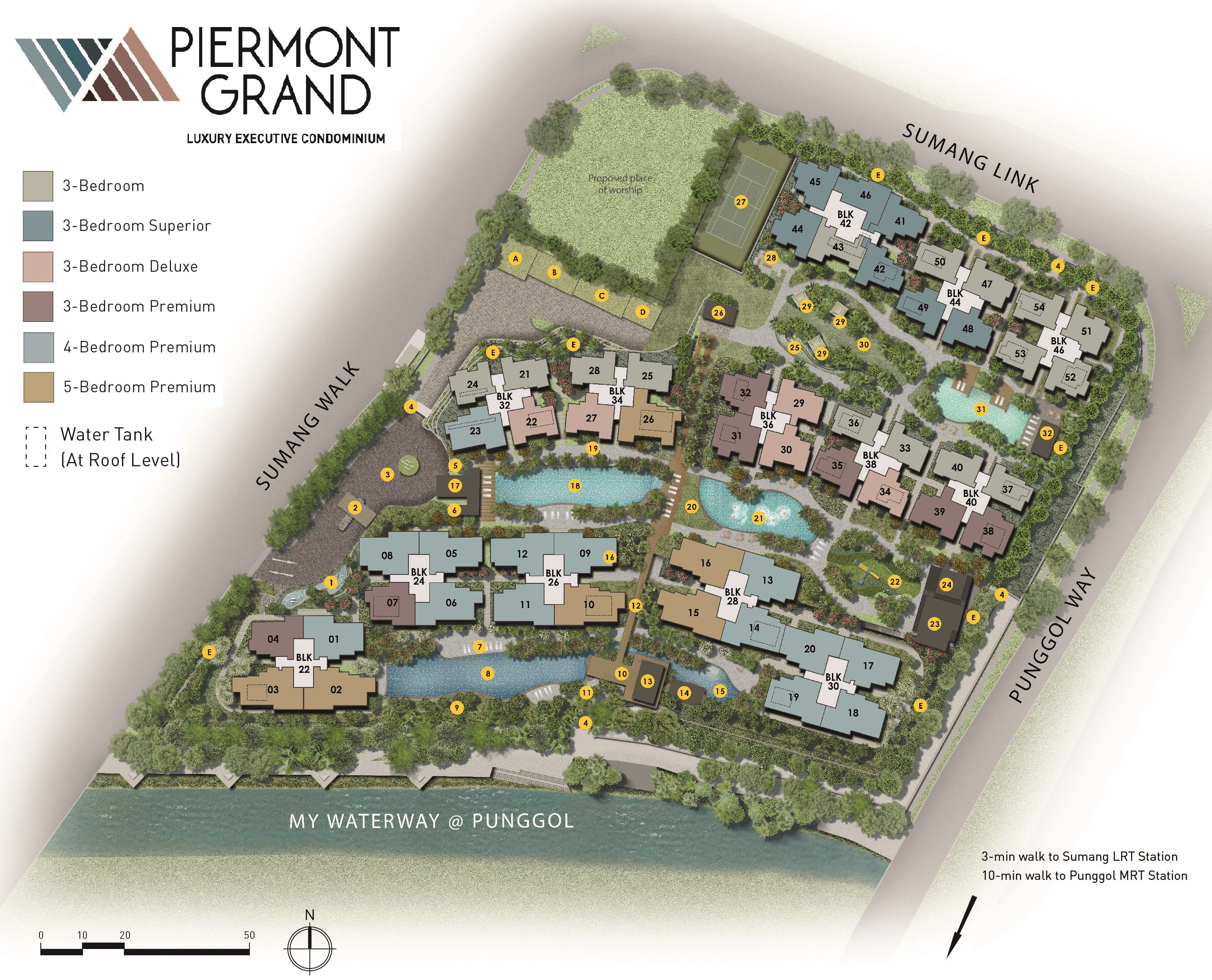 Piermont Grand EC Site Plan Facilities at Punggol Sumang Walk