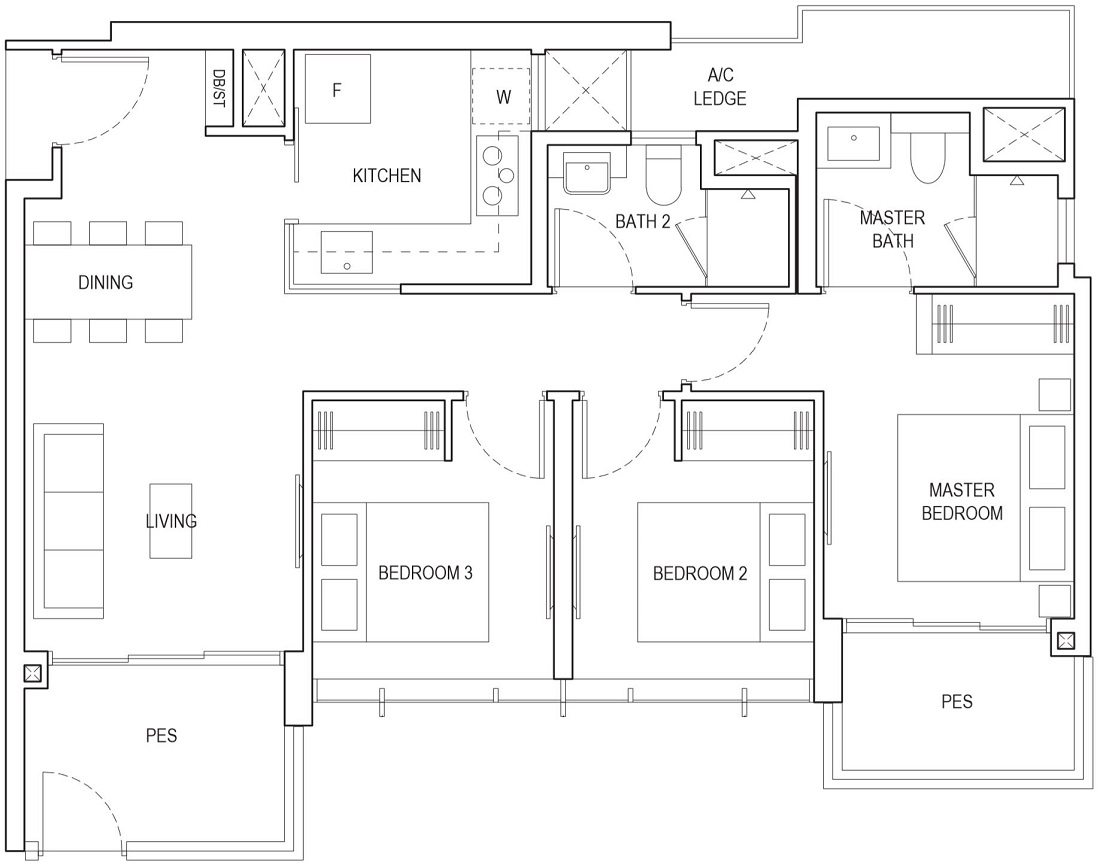 Piermont Grand EC Floor Plan Type Aid-P