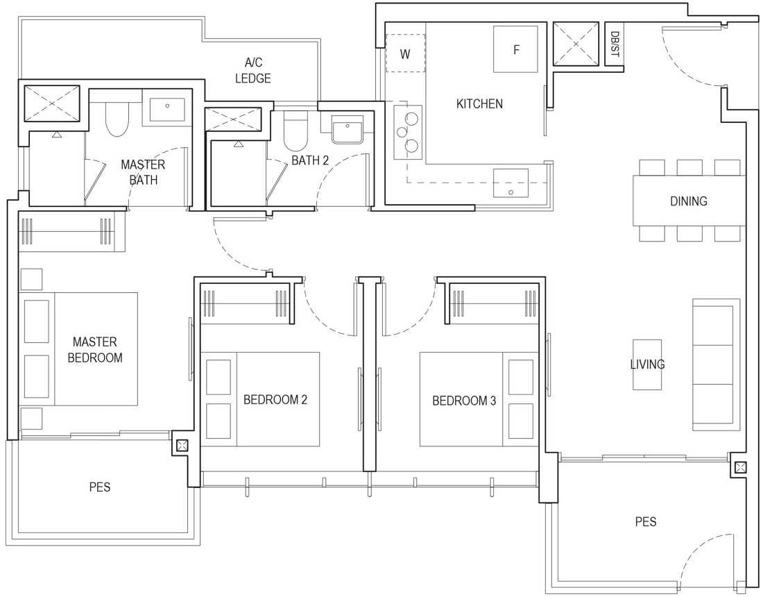 Piermont Grand EC Floor Plan Type A1f-P