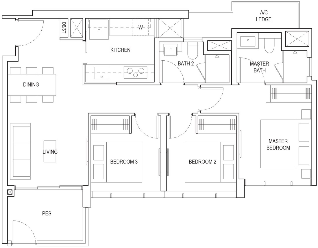 Piermont Grand EC Floor Plan Type A1g-P