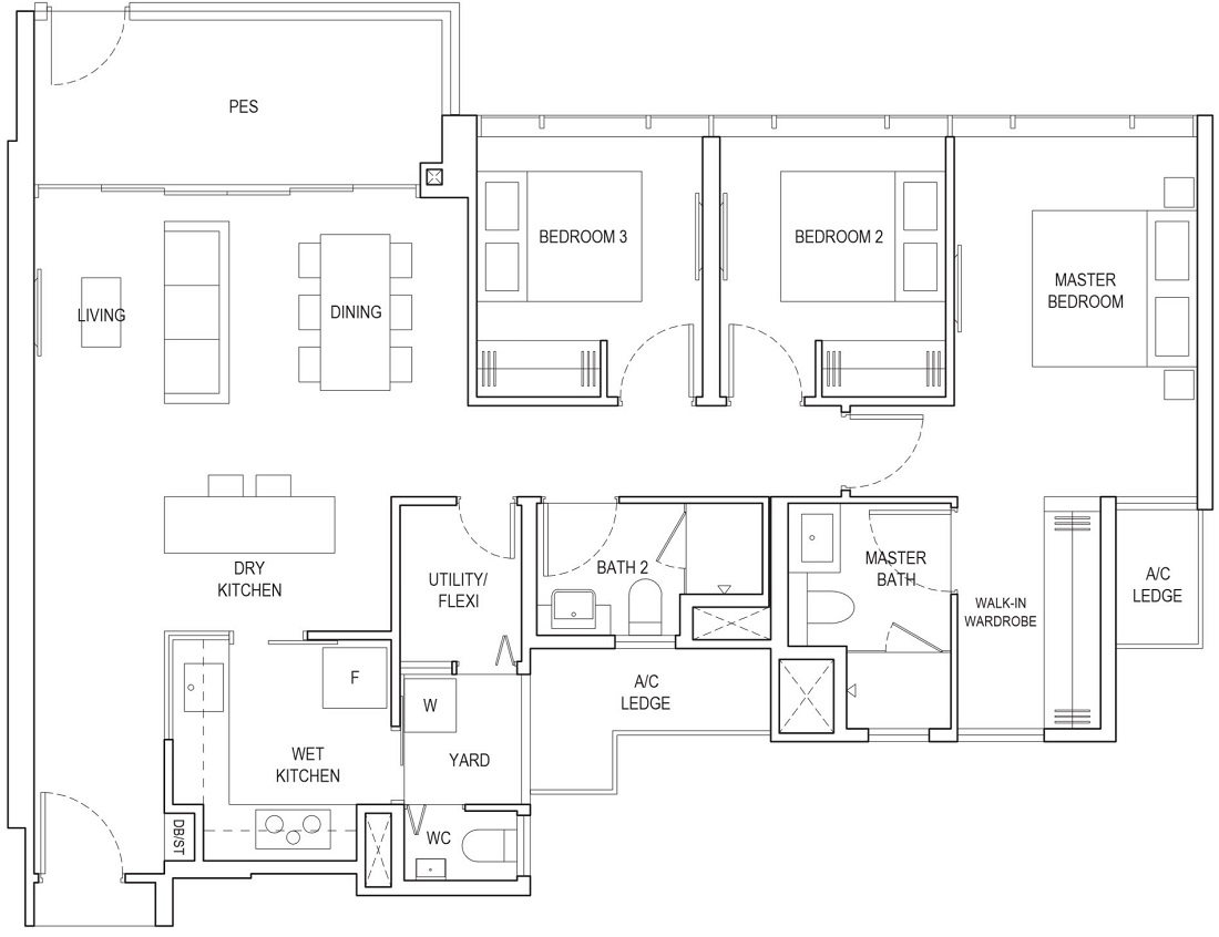 Piermont Grand EC Floor Plan Type A4g-P