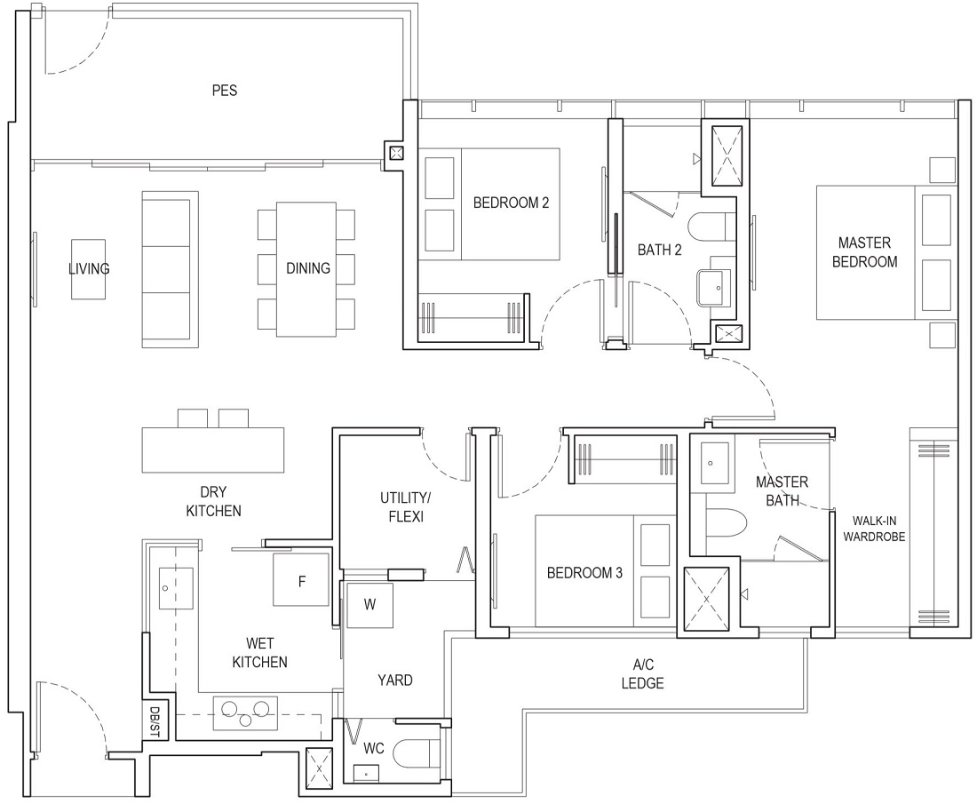 Piermont Grand EC Floor Plan Type A4h-P