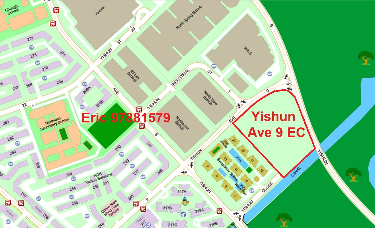 Yishun Ave 9 EC Location Map