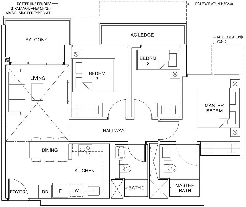 Parc Canberra EC Floor Plan 3BR C1 76_818