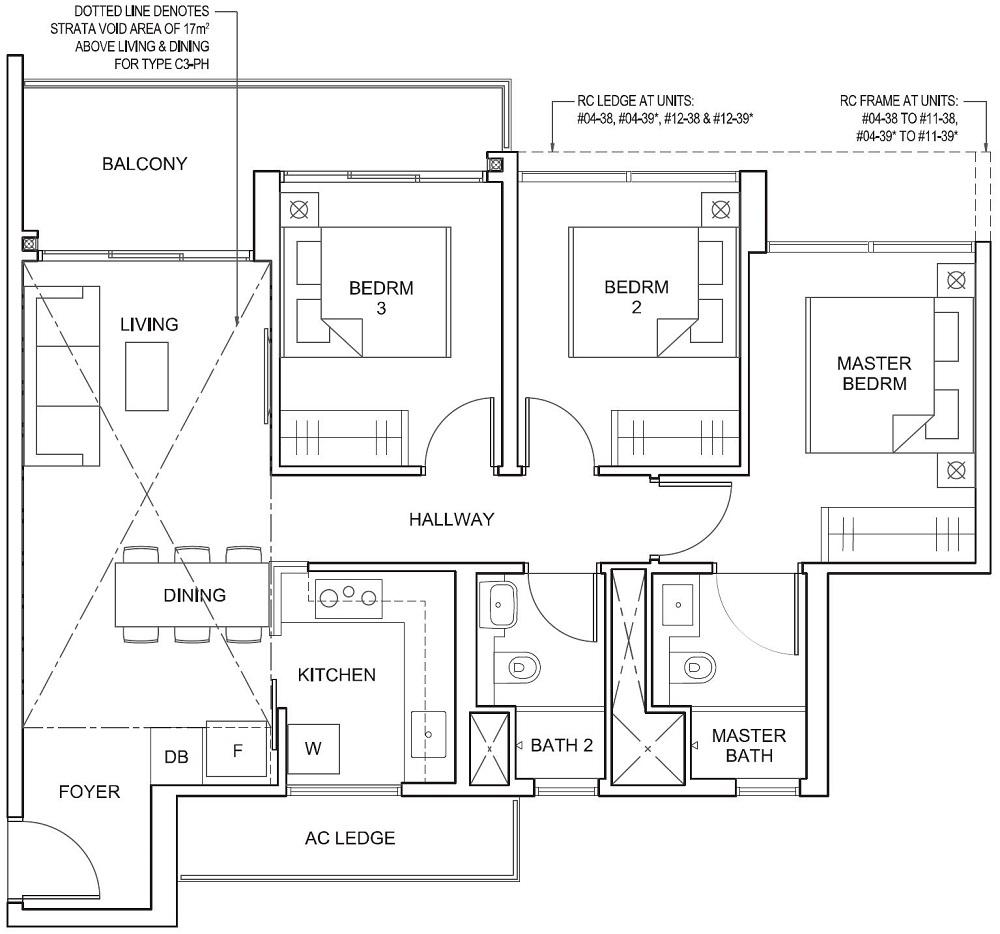 Parc Canberra EC Floor Plan 3BR C3 86_926