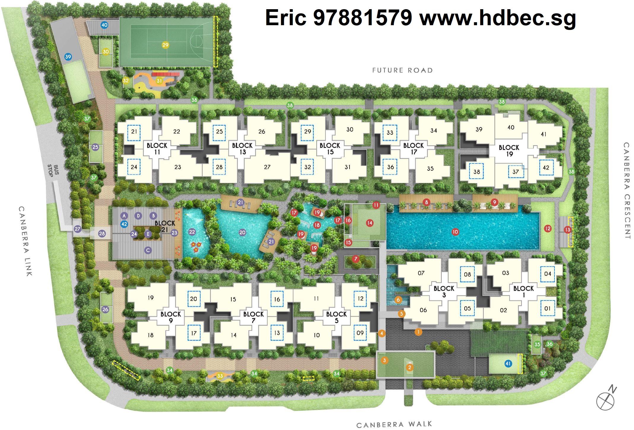 Parc Canberra EC Site Plan & Facilities