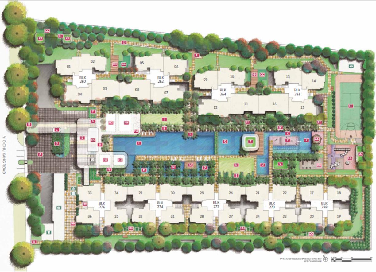 Hundred Palms Residences EC Site Plan