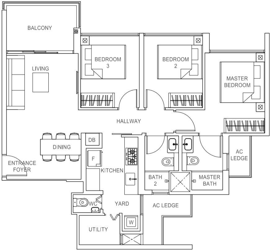 Rivercove Residences EC Type C2 Floor Plan