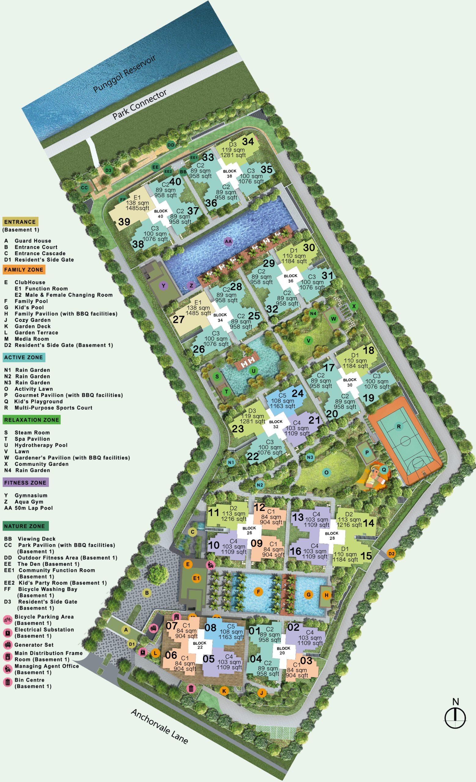 Rivercove Residences EC Site Plan