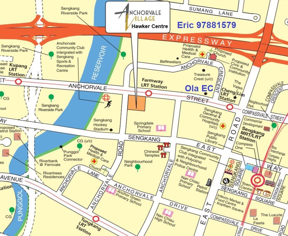 HDB-Anchorvale-Village_Ola-EC-Location Map