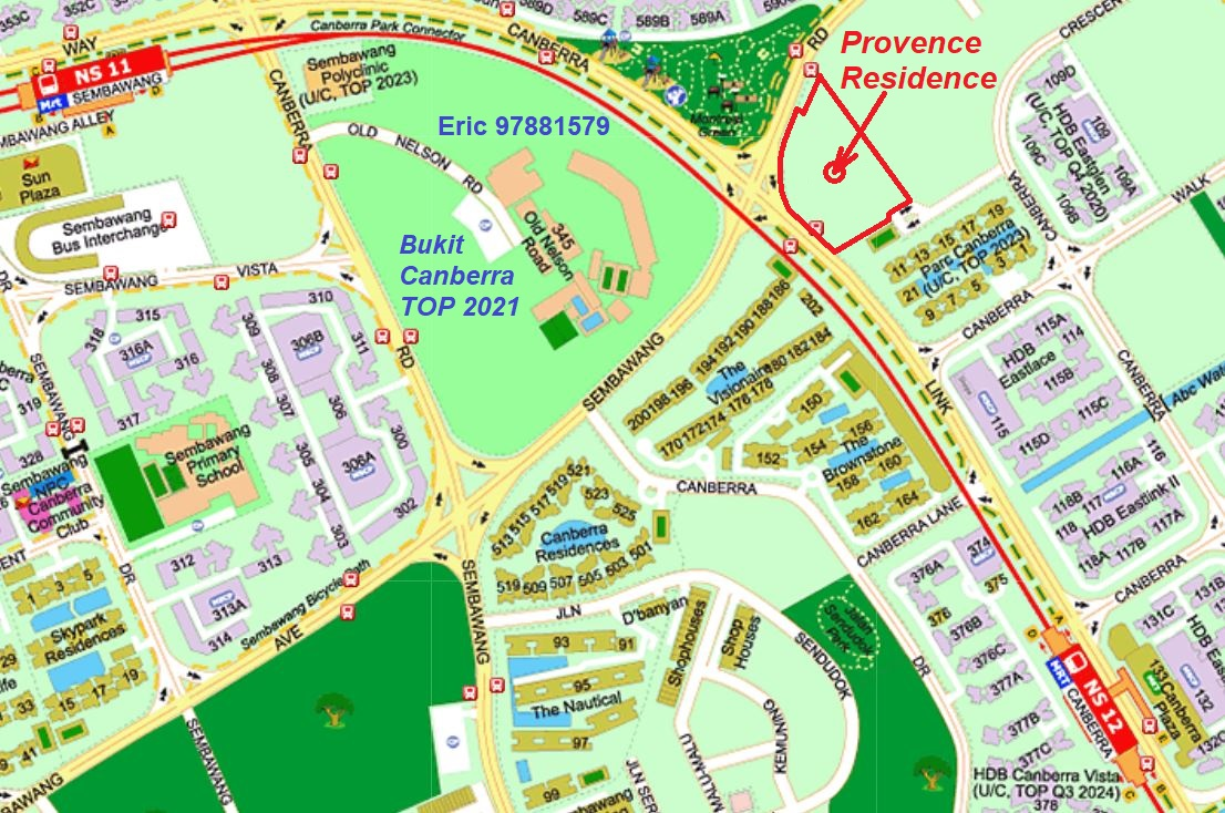 Provence Residence EC @ Sembawang Canberra Link Location Map