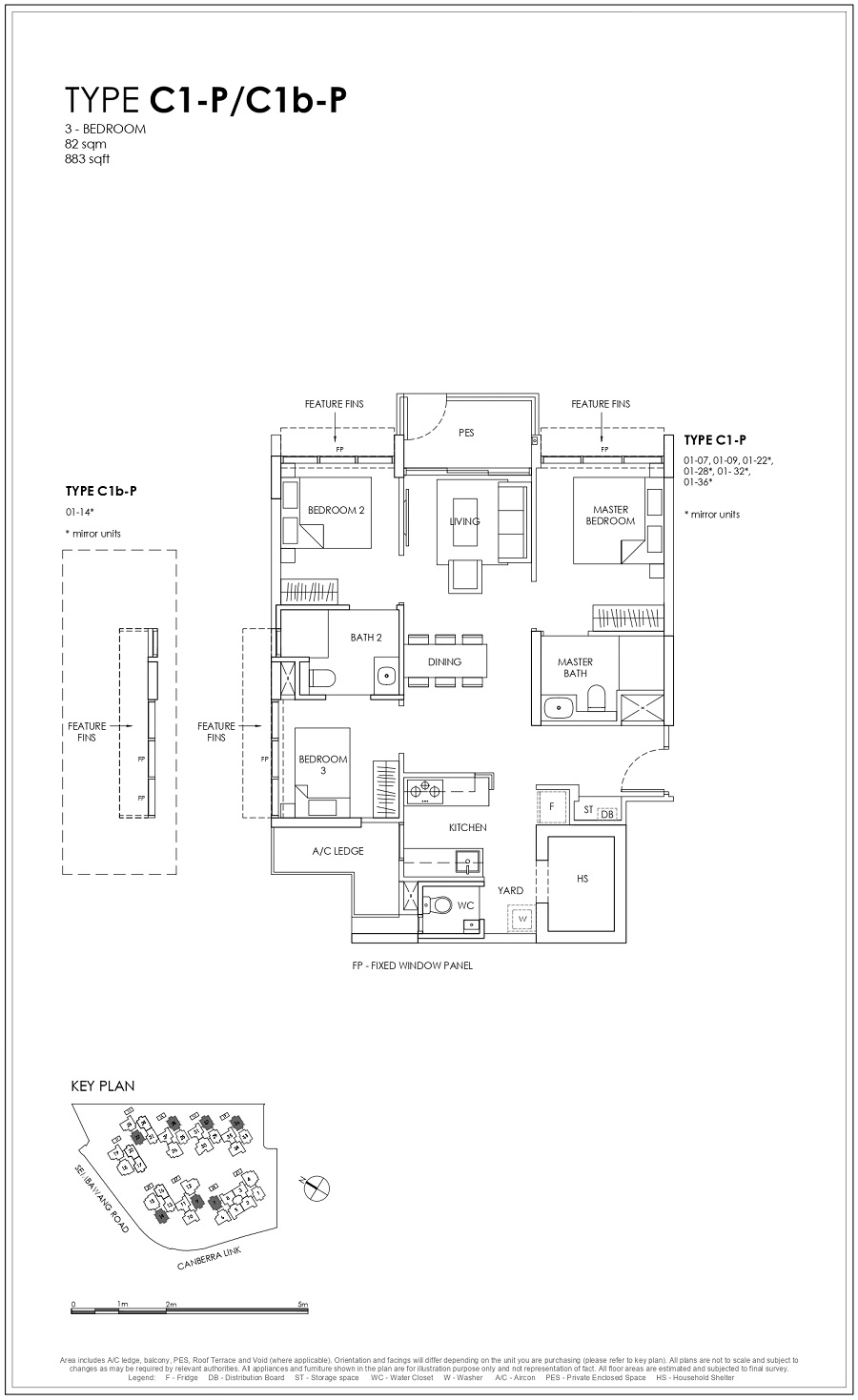 Provence Residence EC 3BR Type C1-P_C1b-P 82_883