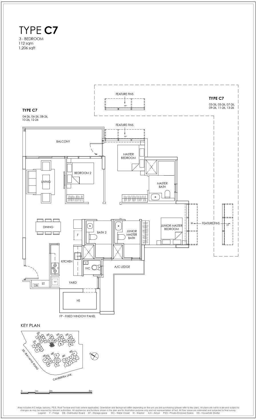 Provence Residence EC 3BR Type C7 112_1206