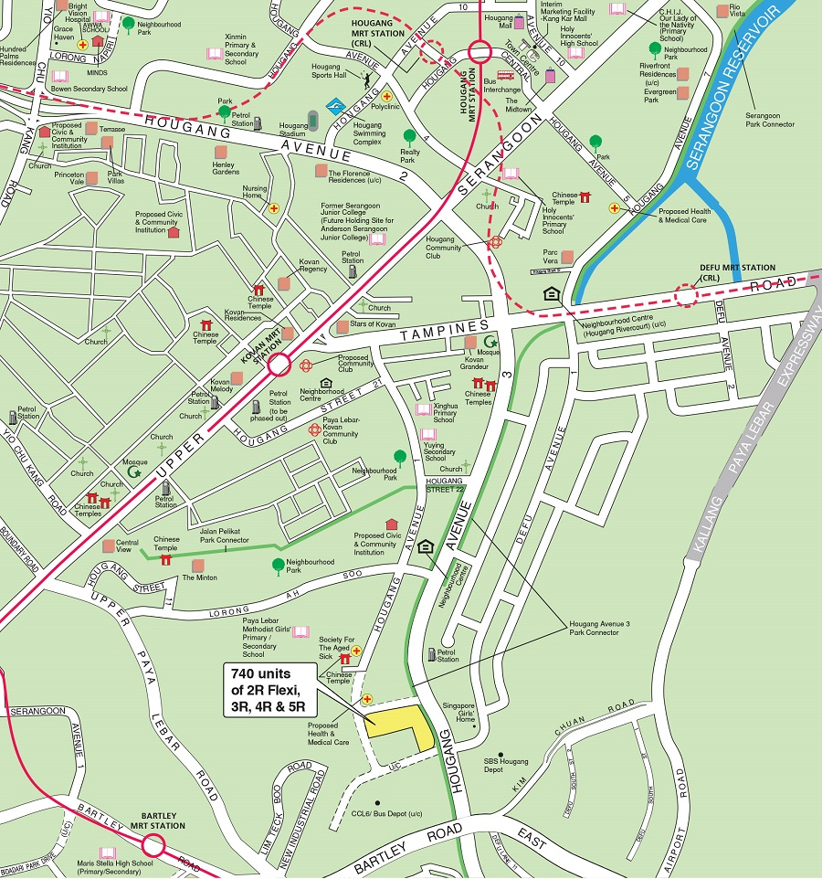 HDB BTO Aug 2021 Hougang Ave 1 & 3