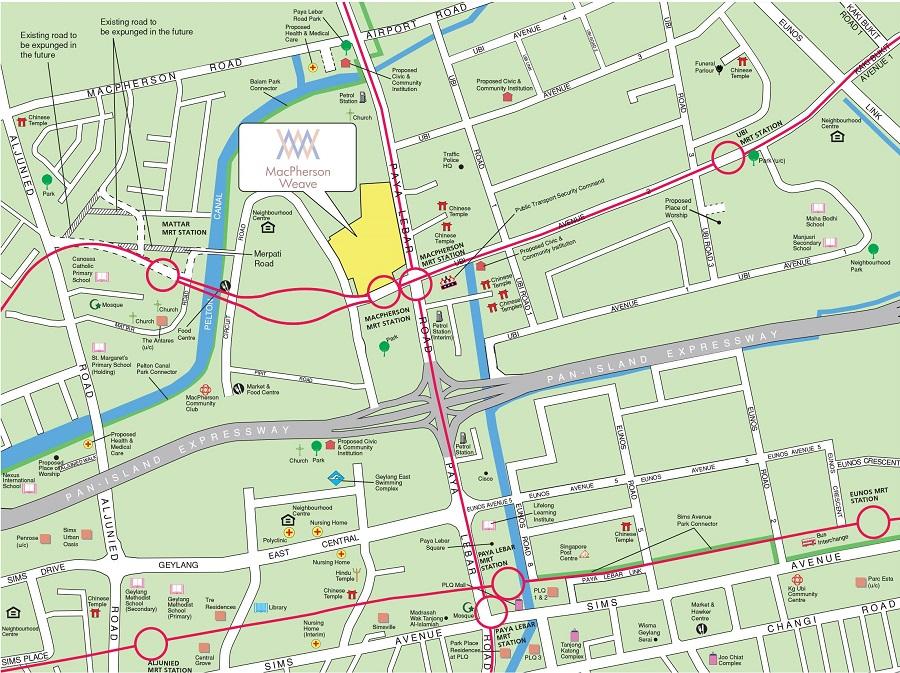 HDB BTO May 2021 MacPherson Weave Location Map