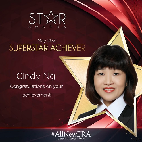 Cindy Superstar Achiever May 2021