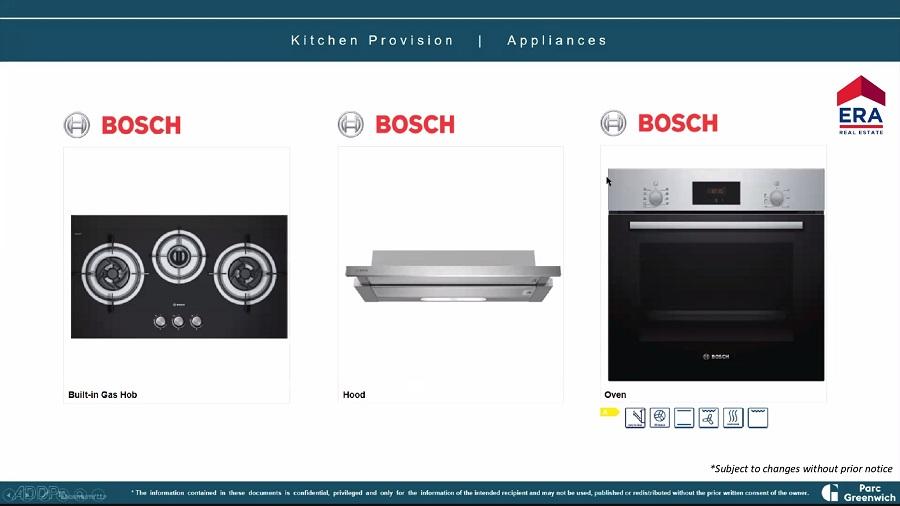 Parc Greenwich Kitchen Appliances Provision