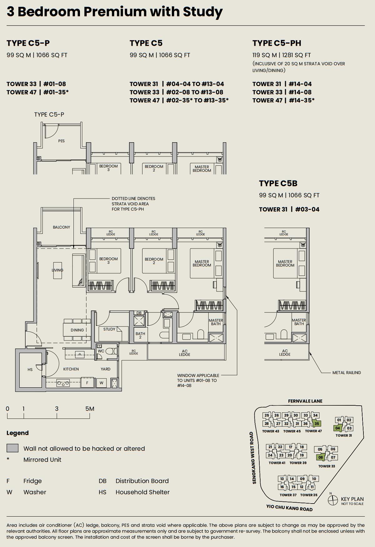 Parc Greenwich Floor Plan 3PS Type C5 99_1066