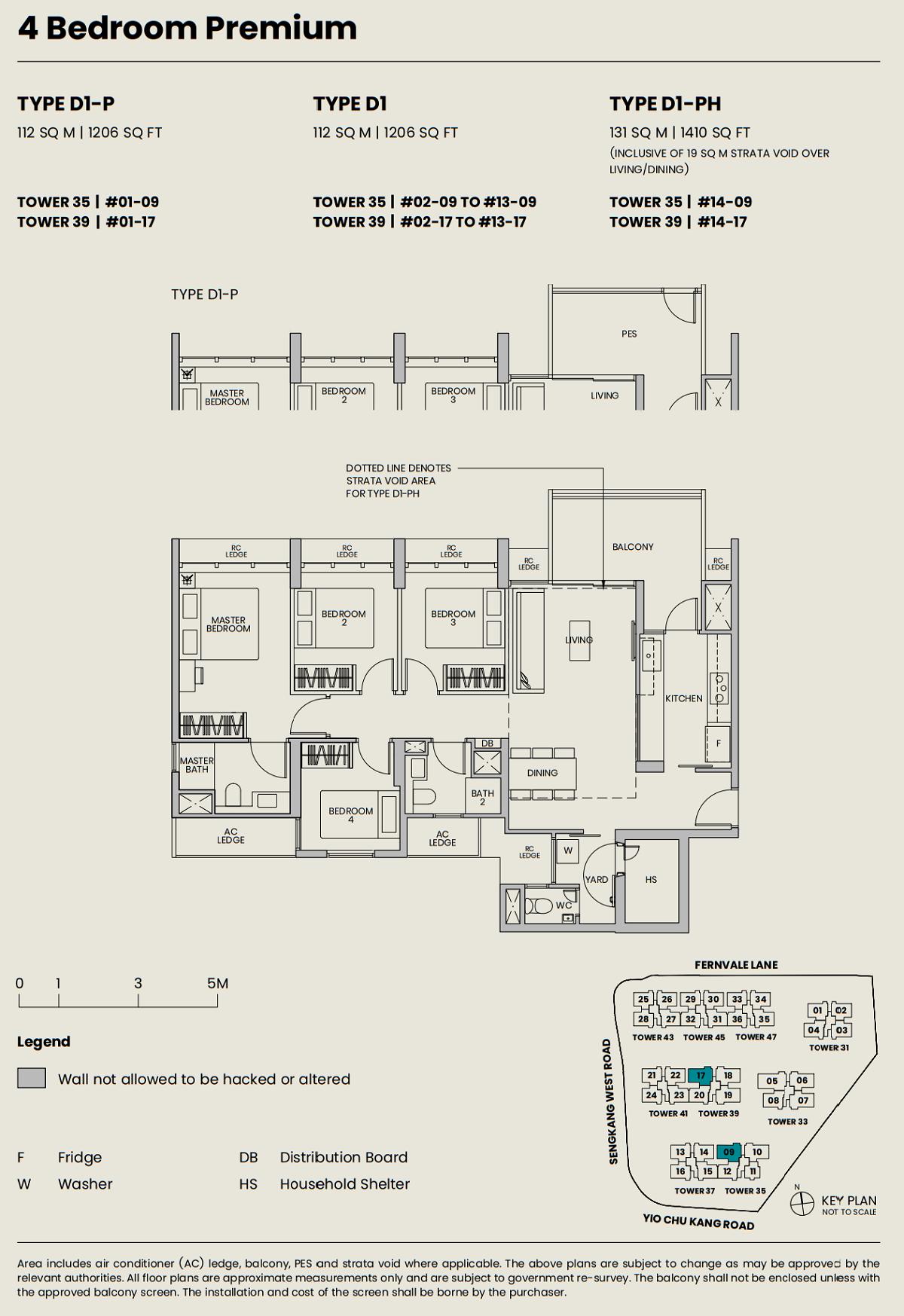 Parc Greenwich Floor Plan 4BRP Type D1 112_1206